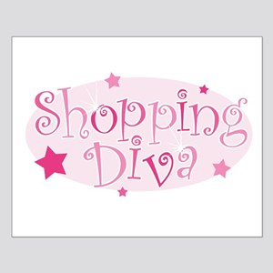 """""""Shopping Diva"""" [pink] Small Poster"""